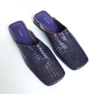 Vintage • square toe slides